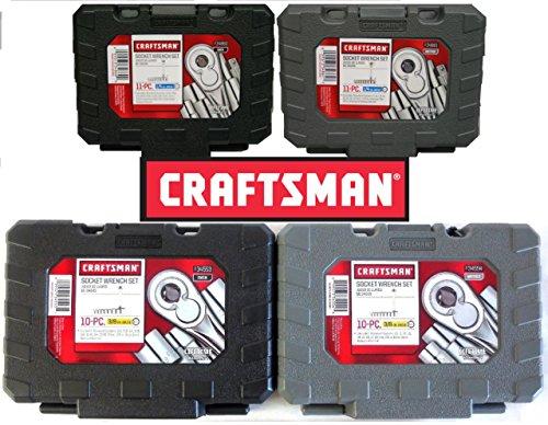 Craftsman 42 PC 14 38 Drive Ratchet Socket Set - Standard and Metric 9-34860 9-34861 9-34554 9-34553
