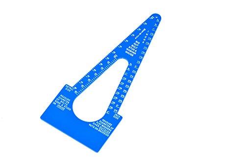 Bolt Size-It Large Diameter Stud Nut Bolt and Washer Gauge Blue