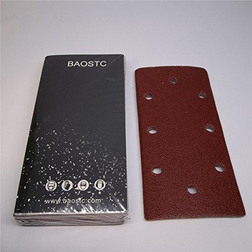 BAOSTC velcro sandpaper3-587-38 P120red aluminum oxide 50PACK
