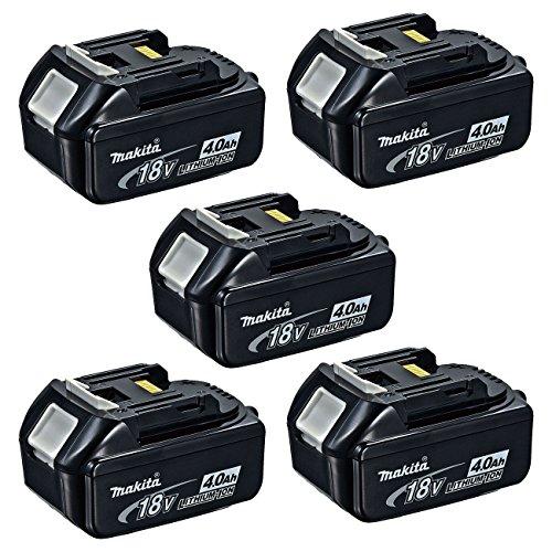 Makita BL1840 18-Volt 40 Ah Rechargeable LXT Lithium-Ion Batteries 5-Pack