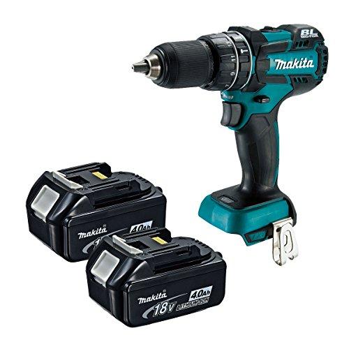 Makita XPH06Z 18V LXT Brushless 12 Hammer Driver-Drill 2 BL1840 Batteries