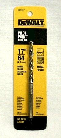 Dewalt Gold Ferrous Oxide Drill Bit Pilot Point 1764  Dia Carded