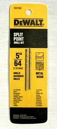 Dewalt Gold Ferrous Oxide Drill Bit Split Pt 564  Dia Carded