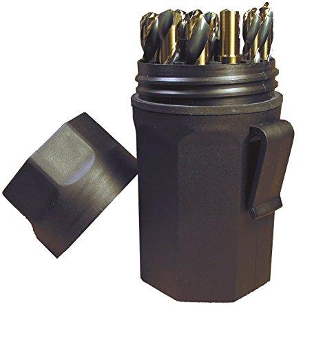 Noreseman 92150 - 29 Piece Reduced Shank Black Gold 135 Degree Split Point Jobber Length Drill Bit Set - Sizes 116 Thru 12