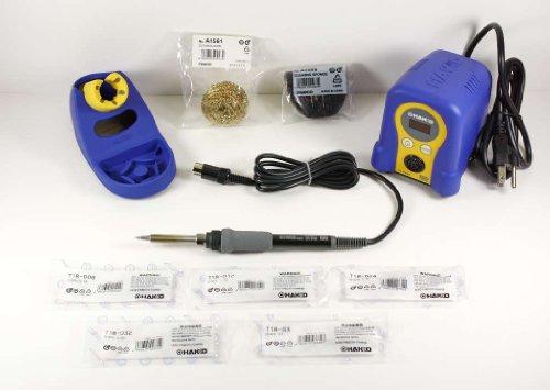 Hakko FX888D-23BY Digital Soldering Station with Chisel Tip Pack T18-D08D12D24D32S3
