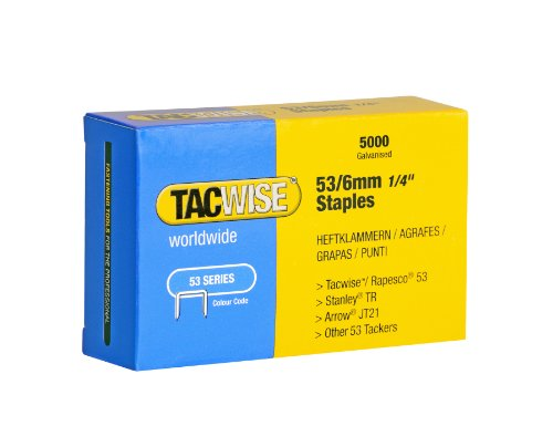 Tacwise Type 53 6Mm Galvernized Staples Pack Of 5000 6 Mm