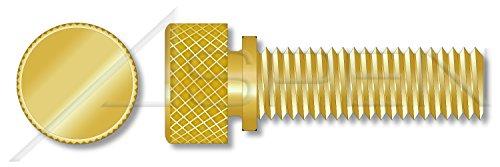 10pcs 8-32 X 12 Thumb Screws Knurled Head with Shoulder Brass