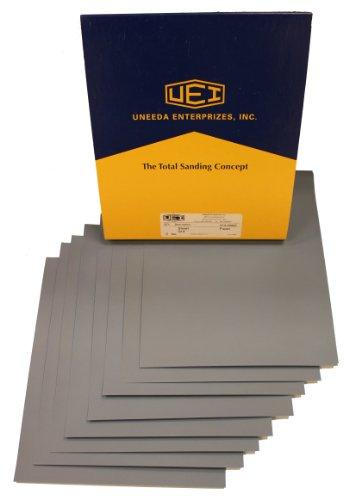 Uneeda Enterprizes Inc M-129068 M-129068 9-Inch X 11-Inch Sheets No 320 Grit Ekablue Aluminum Oxide Paper Sanding Sheets