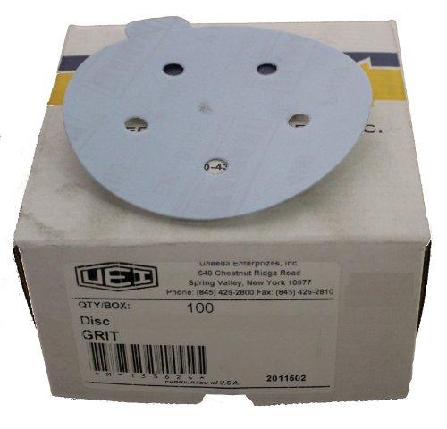 Uneeda Enterprizes Inc M-132154 M-132154 5-Inch x 5 NH No 80 Grit Ekablue Aluminum Oxide Paper Uneevel Hook and Loop Sanding Discs