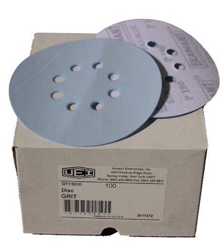 Uneeda Enterprizes Inc M-132477 M-132477 6-Inch x 8 x Hole Vented HV No 80 Grit Ekablue Aluminum Oxide Paper Uneevel Hook and Loop Sanding Discs