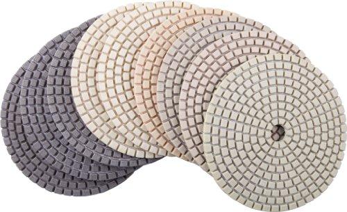 4 DAMO Diamond Polishing Pads Best Value Set of 9 PCS for Granite PolishConcrete Polisher