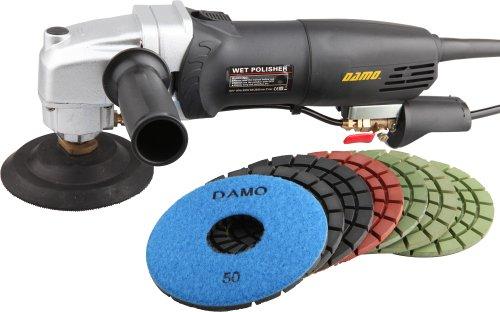 DAMO Stone PolisherConcrete Polisher 5 Wet Polishing Kit for Concrete FloorCountertop