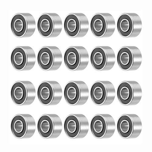 CH Bearings - 693rs 3mmx8mmx4mm Double Sealed Miniature Deep Groove Ball Bearing 20pcs - Line Roller Ball 6205 Stick Rail Fish Guid 3x8x4 6204 Carp Bearing Thrust 8x22x7 Nylon Groove Track Flo
