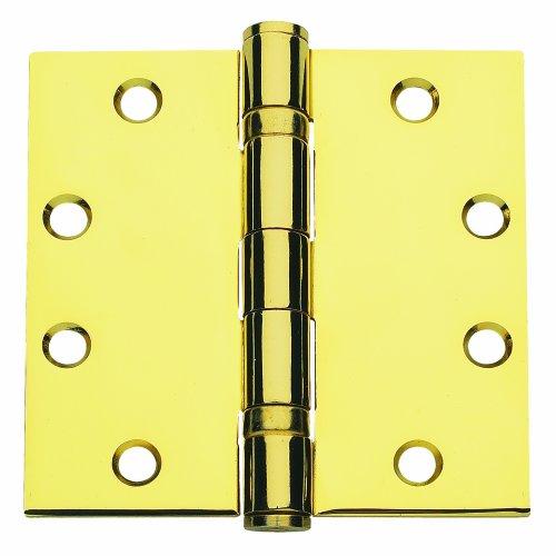 Global Door Controls 45 in x 45 in Bright Brass Ball Bearing Hinge - Set of 3