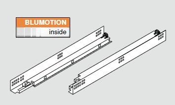 Blum Tandem Plus Blumotion 562H Drawer Runner For Face Frame 15 Drawer