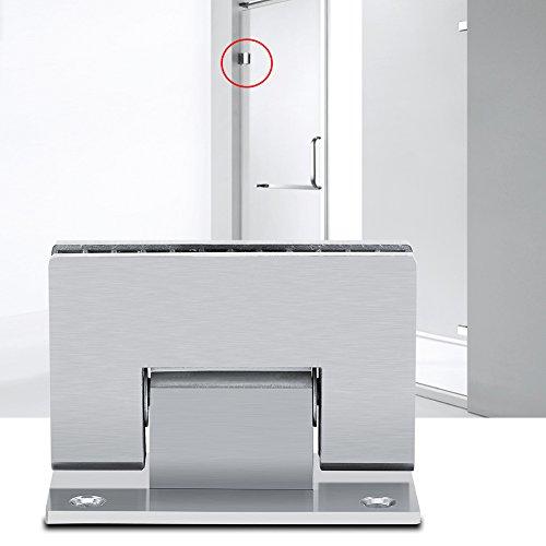 Shower Door Hinge Stainless Steel Shower Glass Door Hinge 8-10 mm 90 Degree Bracket Frameless Wall to Glass Shower Door Wall Mount Hinge