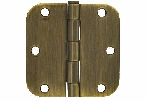 18 Pack Antique Brass 35 X 35 in 58 Radius Round Corner Interior Door Hinges