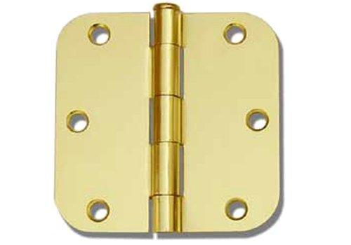 36 PC Polished Brass 35X35 58 Round Corner Interior Door Hinges