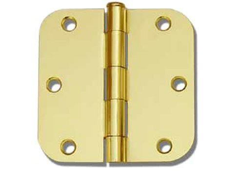 72 PC Polished Brass 35X35 58 Round Corner Interior Door Hinges