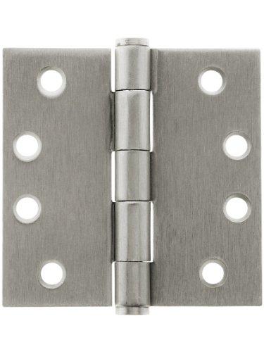 4 Heavy Duty Plated Steel Door Hinge With Button Tips In Satin Nickel Door Hinges