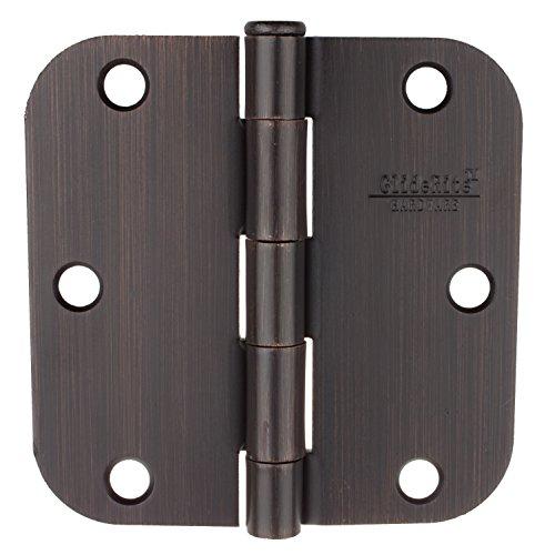 GlideRite Hardware 3-12 Steel Door Hinges 58 Radius Oil Rubbed Bronze Finish 3558-ORB 12