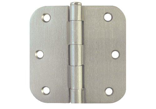 24 PC Satin Nickel 35 X 35in 58 Radius Round Corner Interior Door Hinges Brushed Nickel