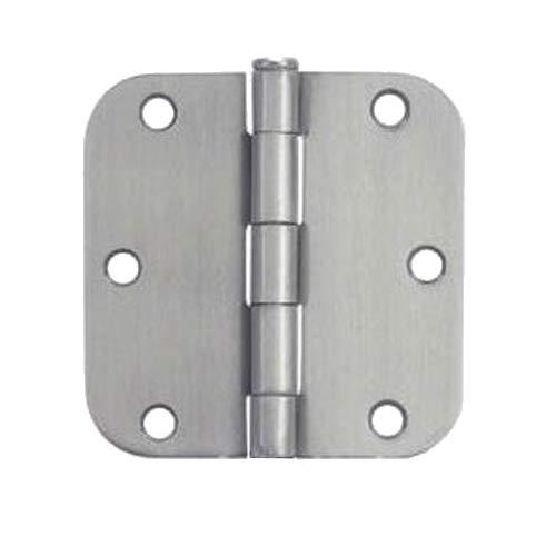30 Pack - Cosmas Satin Nickel Door Hinge 35 Inch x 35 Inch with 58 Inch Radius Corners - 37557