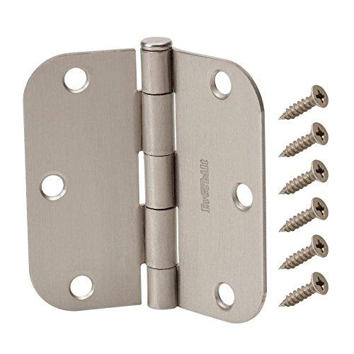 Everbilt 3-12 in x 58 in Radius Satin Nickel Door Hinge Value Pack 12 per Pack