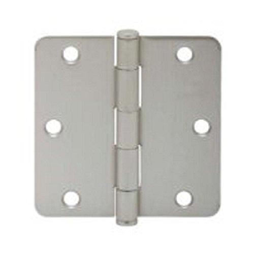 Schlage Lock Company SC3P1012F-619E 35 x 35 Plain Bearing 14 Radius Corner Mortise Hinge - Three Satin Nickel