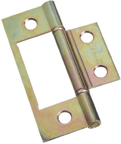 Stanley Hardware Bifold Non-Mortise Hinge Brass 402134