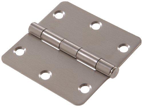 Hardware Essentials Round Corner 14 Full Mortise Door Hinge Stainless Steel 3-12