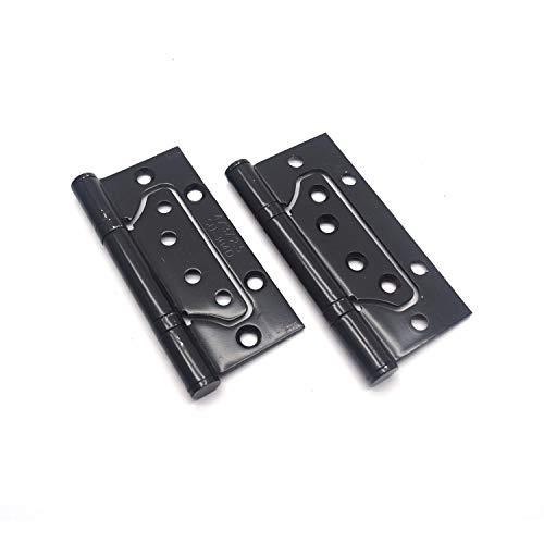 MTMTOOL Non-Mortise Door Hinges 2Pcs Black Mute Door Hinges Stainless Steel Ball Bearing Hinges with Screws 39 x 3