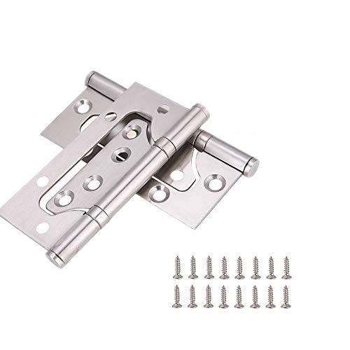 Zengest Door Hinges 4 Inches Non Mortise Hinges for Heavy Weight Door Pack of 2