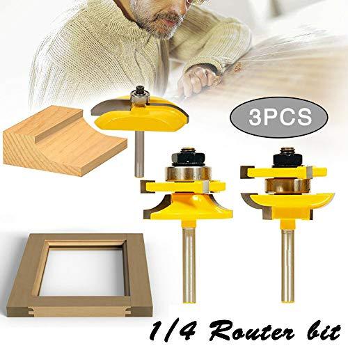3pcs 14 Shank Ogee Rail Stile Raised Cutter Panel Cabinet Router Bit Set