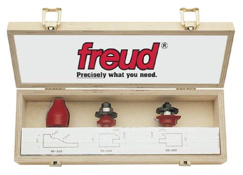 Freud 97-504 3-Piece Cabinet Router Bit Set