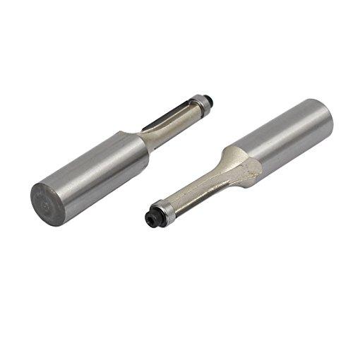 uxcell 12-inch Shank Diameter 14-inch Cutting Dia Double Flute Bearing Flush Trim Bits 2pcs