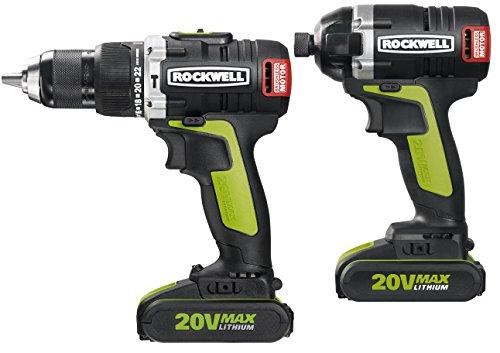 Rockwell RK1808K2 Hammer DrillImpact Driver Brushless Combo Kit