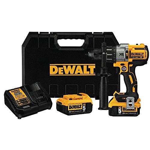 DEWALT DCD996P2 20V MAX XR Lithium Ion Brushless 3-Speed Hammer Drill Kit