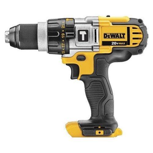 Dewalt DCD985BR 20V MAX Cordless Lithium-Ion Premium 3-Speed Hammer Drill Bare Tool Certified Refurbished