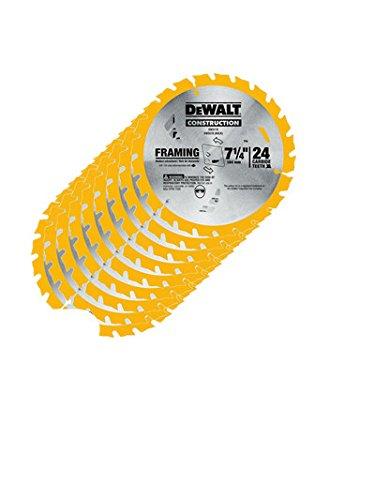 Dewalt Dw3578 10 Pk Framing Saw Carbide Circular Saw Blade
