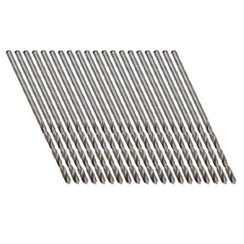 uxcell20 Pcs Straight Shank High Speed Steel 16mm Micro Twist Drill Bit