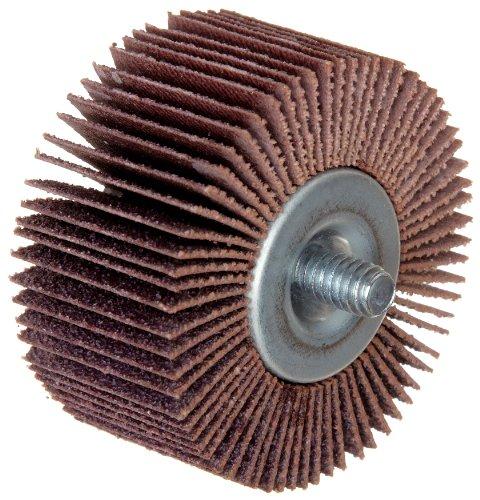 Merit High Performance Quick-Change Mini Grind-O-Flex Abrasive Flap Wheel Threaded Shank Ceramic Aluminum Oxide 1 Dia 1 Face Width Grit 80 30000 Max RPM Pack of 10