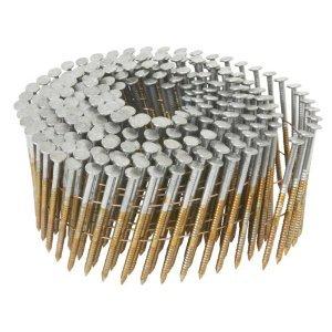 1800Count 2-12 x 099 Hitachi 12218 Screw Shank Bright Coil Framing  Sheathing Nails