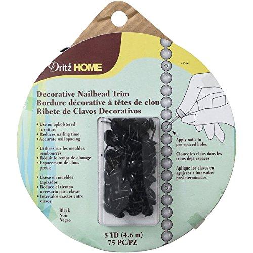 Nailhead Trim 5yd-Black