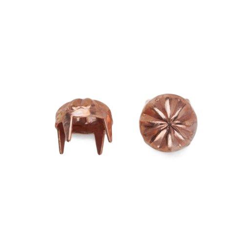 Round Orange Squeezer Nailhead Size 30 Solid Brass Copper Finish 300 pieces per pack