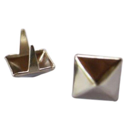 SODIALR 100 Pcs 12mm Silver Pyramid Studs Nailheads