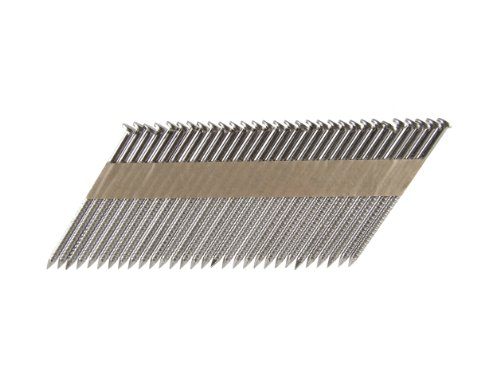 B&C Eagle A3X131RSS33 Offset Round Head 3-Inch x 131 x 33 Degree S304 Stainless Steel Ring Shank Paper Tape Collated Framing Nails 500 per box