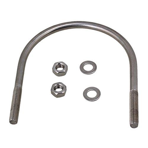 CNBTR 114mm Dia Pipeline 304 Stainless Steel U-Bolts U-Screws M10 Screws