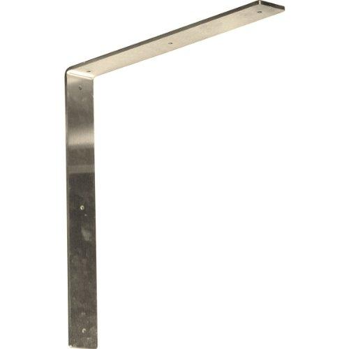 Ekena Millwork BKTM02X16X16HASS  2-Inch W x 16-Inch D x 16-Inch H Hamilton Bracket Stainless Steel