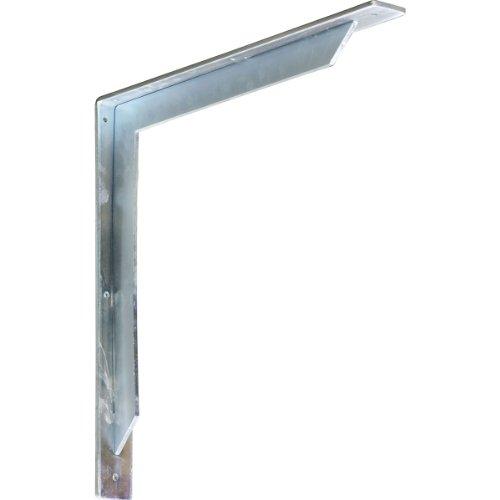 Ekena Millwork BKTM02X18X18STSS  2-Inch W x 18-Inch D x 18-Inch H Stockport Bracket Stainless Steel